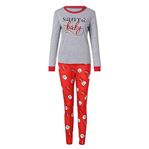 Holiday Matching Family Christmas Xmas Pajamas PJs Sets Santa Match Sleepwear Collection (XL/US:10, - Sleepwear Match Pants