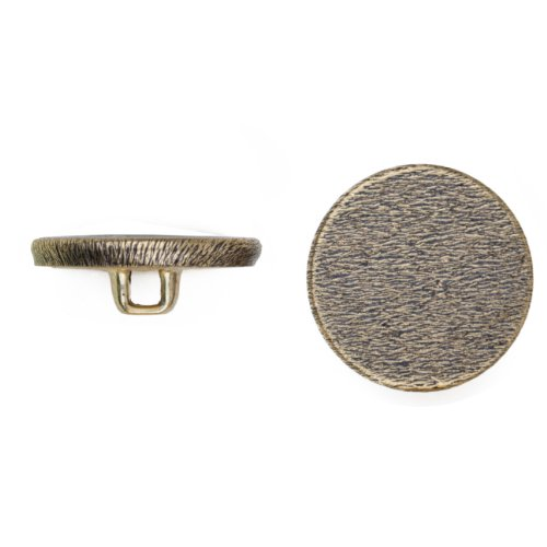 C&C Metal Products 5051 Flat Florentine Metal Button, Size 40 Ligne, Antique Gold, 36-Pack by C&C Metal Products Corp
