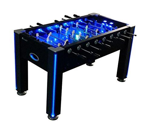 Atomic Azure LED Light Up Foosball Table ()