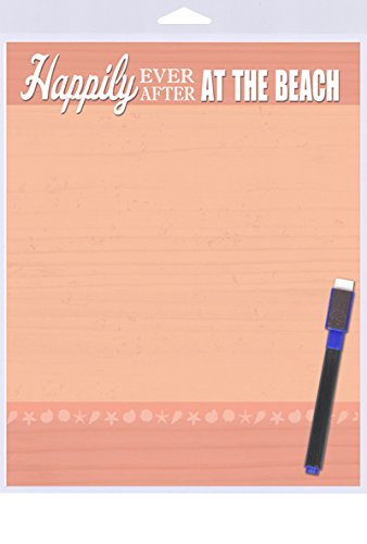 "Top (SJT40905) Happily Ever After, At the Beach Dry Erase Memo Board 8"" x 10"" free shipping"