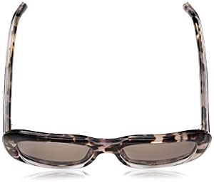 Calvin Klein Women's Ck4341s Oversized Oval Sunglasses, Crystal Rose Havana, 57 mm