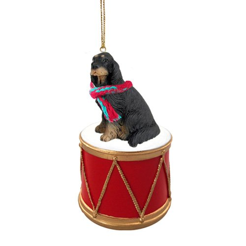 Little Drummer Gordon Setter Christmas Ornament - Hand Painted - Delightful