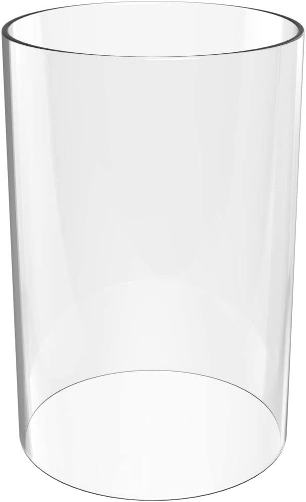 U-play Glass Vase Cylinder- Wedding Candles Height 11 inch Diameter 4.7 inch-fit Most CANDLESTICKS,Wall LAMP-Borosilicate Glass Lampshade- Multiple Specifications