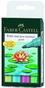 Pitt Artist Big Brush 4 Pastel Color Set
