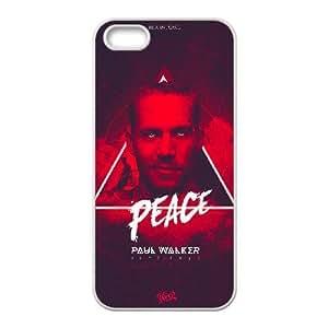 iPhone 4 4s funda Blanco [funda dura de la PC de la contraportada + HD patrón impreso] Paul Walker® Series [Numeración: FHJSFOHDO1317]