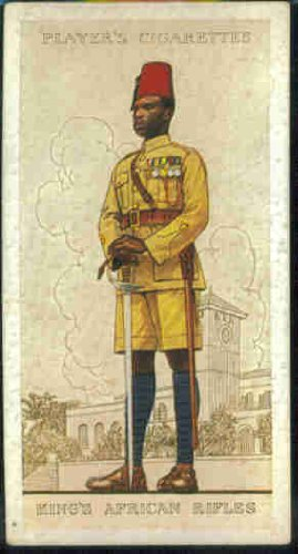 King's African Rifles 1938 Player Cigarettes Military Uniforms of the British Empire Overseas #44 (GOOD)