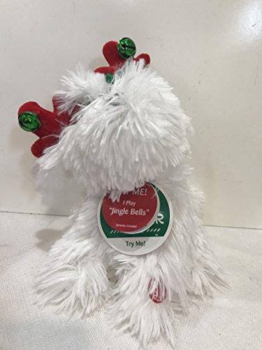 Dandee Dancing Holiday White Dog