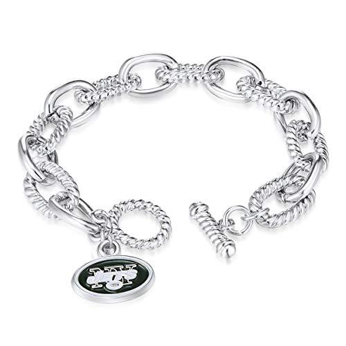 NFL New York Jets Chain Link Logo Bracelet
