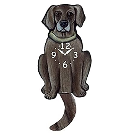 Weimaraner Dog Wagging Tail Pendulum Clock