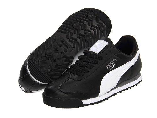 (プーマ) PUMA 靴シューズ メンズスニーカー PUMA Roma Basic Black/White/Puma Silver US 7.5 (25.5cm) D B00KTSP1UC