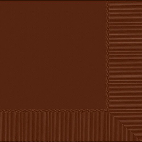 Chocolate Brown 3-Ply Beverage Napkins | Pack of 50 | Party Supply ()