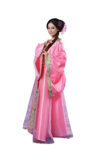 Wonder Woman Costume Hot (Bysun Chinese Ancient Women's Stage Han Fu Costume Hot PinkL)