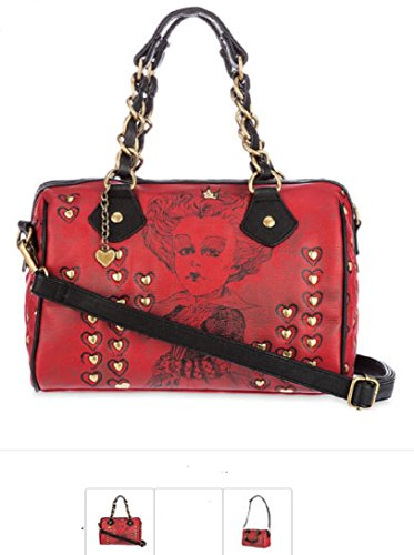 RED QUEEN Hearts Handbag Purse Tote Alice Through the Looking Glass Disney Store - Queen Of Hearts Purse
