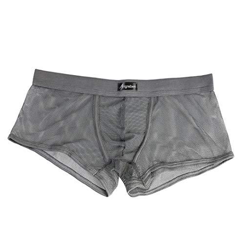 Pantalones Calzoncillos er transparentes cortos Hombre Boxer de malla Aimee7 0q6FwE