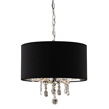 LightInTheBox 60W Modern Crystal Beaded Pendant Light with 3 Lights and Black Drum Shade Ceiling Light  sc 1 st  Amazon.com & LightInTheBox 60W Modern Crystal Beaded Pendant Light with 3 Lights ...