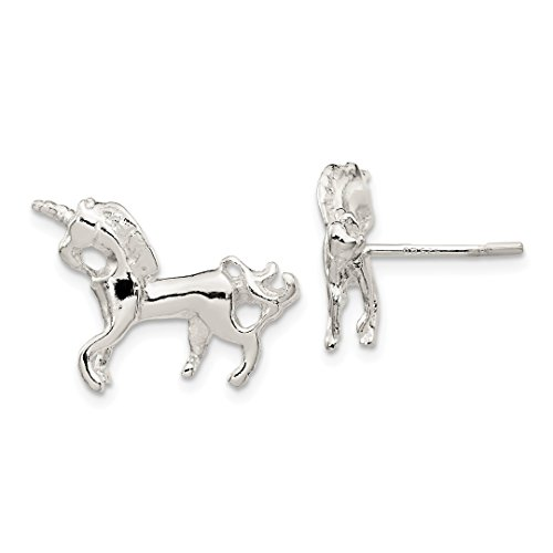 ICE CARATS 925 Sterling Silver Unicorn Mini Post Stud Ball Button Earrings Animal Horse Fine Jewelry Ideal Mothers Day Gifts For Mom Women Gift Set From Heart