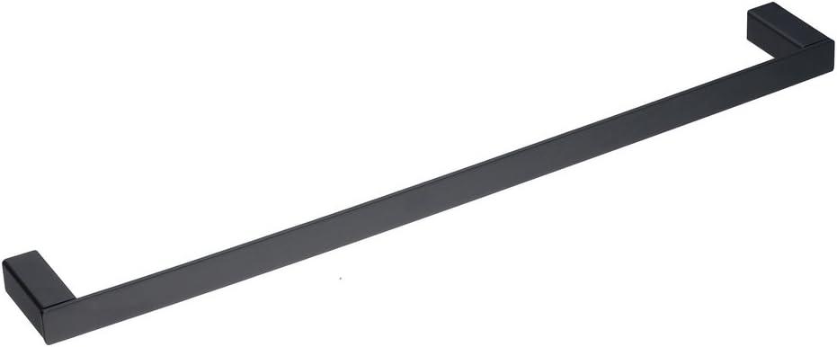 Garderobenhaken Wandhalterung Contemporary Square Style Handtuchhalter SUS 304 Edelstahl 4-teiliges Badezimmer-Zubeh/ör-Set schwarz Handtuchhalter Toiletten-Tissue Roller