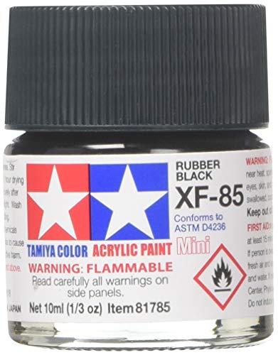 Tamiya Acrylic Mini XF-85 Rubber Black - 10 ml (1/3 oz)