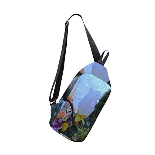 (Sling Bag Bouquet And Candlestick Womens Chest Shoulder Backpacks Crossbody Single Bag Pack )