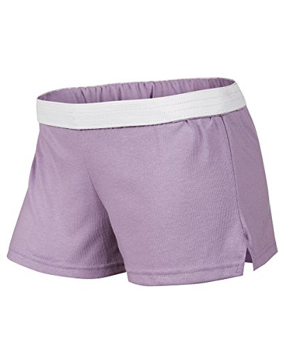 Soffe Shorts - Soffe Junior's Juniors New Low Rise Short, Orchid Mist, Small