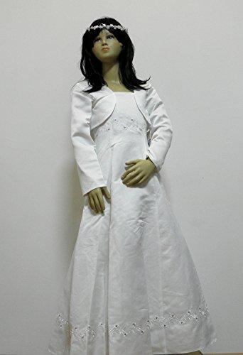 134 128 inkl Bolero NEU Weiß 188 Kleid KW Kommunion Kommunionkleid Gr zqn4RTC