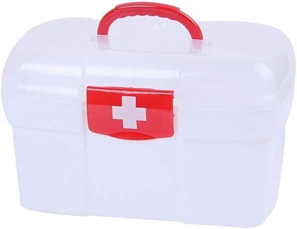HTTYX Botiquín Kit de Primeros Auxilios de múltiples Capas Cajas de Almacenamiento de medicamentos Caja de medicamentos de plástico Organizador para el hogar Contenedor médico de Gran Capacidad HTTSC: Amazon.es: Hogar
