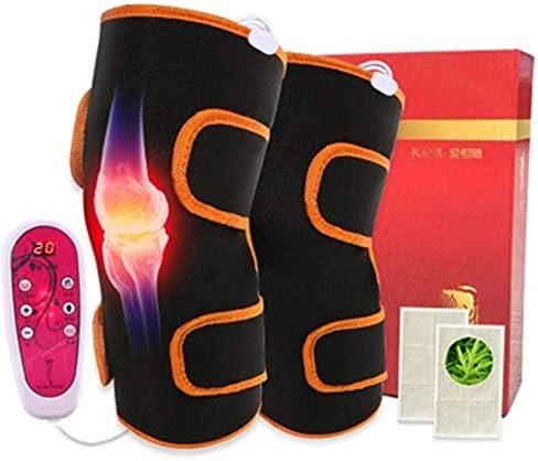 Heizung Knieschützer Knie Heizkissen Beheizte Massage Knieorthese für Männer und Frauen Beinlinge Adjustable Beheizt und Massage Knie Heizung für Knieschmerzlinderung, Schwarz, freie Größe