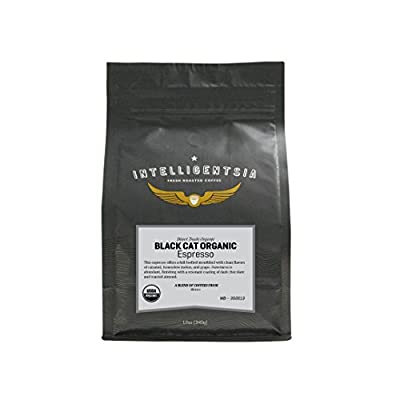 Intelligentsia Black Cat Certified Organic Espresso - 12 oz - Roasted Fresh To Order, Medium Roast, Direct Trade, Whole Bean Coffee