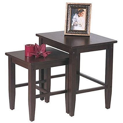 Metro Shop Office Star Expresso 2-piece Nesting Table Set