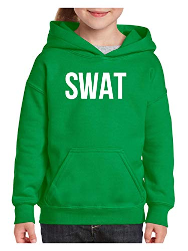Mom`s Favorite Halloween Costume Party Gift SWAT Police Unisex Hoodie for Girls and Boys (XLIG) Irish Green]()