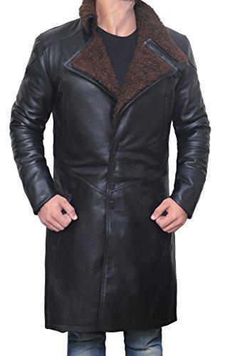 Mens Magnet Closure Blade Runner Coat - Mens Leather Jacket, XL by Decrum (Image #2)