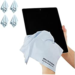 "(4-Pack ""OVERSIZED"") The Most Amazing Microfiber Cleaning Cloths - Perfect As Cell Phone, Tablet, Camera Lens, Eyeglasses, Computer, Monitor, Laptop Screens, Video, Projector, Binocular, Telescope, Headphone, CLEANERS - A Must Have As a Digital Cleaning Accessory For All Your Electronic and Vehicle Accessories - Also, Essential for Your Amateur or Professional Photographic Flash Equipment Bag, Kits, Protectors or Products - (4 Light Blue ""Oversized 12x12 inch)!"