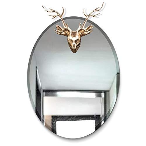 WZ 600 X 450mm Oval Wall Mirror, Home Decoration Anti-Fog Silver Mirror -