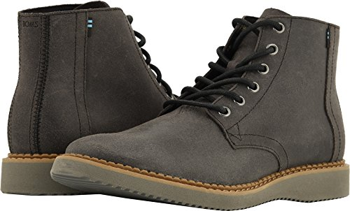 TOMS Men's Porter Water-Resistant Boot Black Leather 11.5 D US -