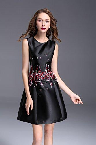 Dresses Sleeveless Fit Scoop Neck Short Formal Party cotyledon Womens Slim Gowns qTqvI
