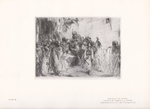 The Entry of a Pasha - Vintage Print 1926