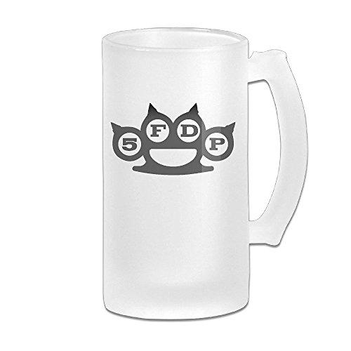 5FDP Five Finger Death Punch Band Logo Grind Beer Glass Mug White