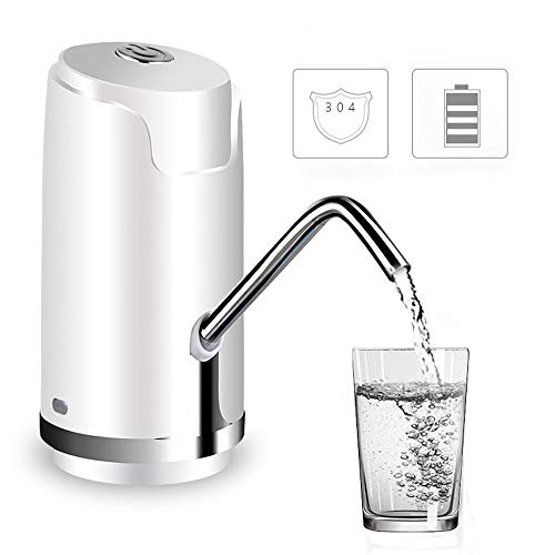 LWXQY Wireless Electric Pump Intelligent USB Rechargeable Bottled Water Automatic Water Pump Kitchen Office Camping