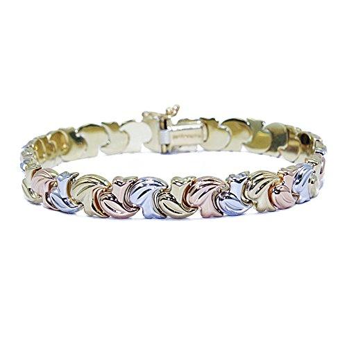 (14k Tri-Color Gold Stampato Bracelet)