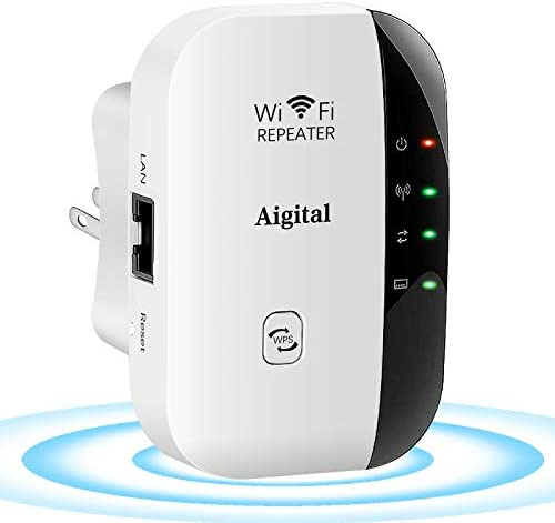 WiFi Range Extender 300Mbps Wireless Repeater Internet Signal Booster 2.4GHz Amplifier Blast for High Speed Easy Set Up, Support Repeater/Access Point Mode with WPS