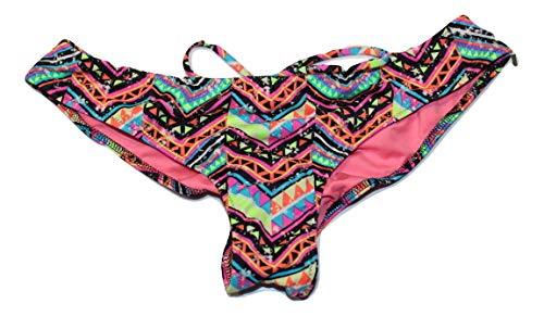 Victoria's Secret Pink Ruched Swim Bikini Bottom Multi Color Small NWT