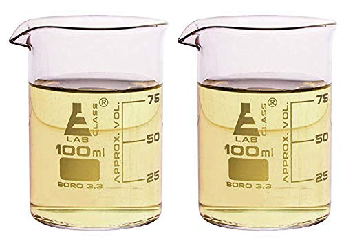 Beaker Double Shot Glasses - 3.3oz/100mL - Lab Quality