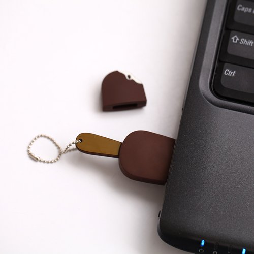 HDE 8GB Food Snack Dessert Shaped High Speed USB Flash Thumb Drive Memory Stick (Dark Chocolate Fudge Ice Cream Bar)