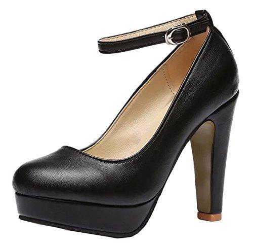 018e77c3d876 Plateforme Femme Chaussures Talon Imperméable Avec Fin De Une Snone  Escarpins Soirée Club Talons Hauts Night Noir Super Féminins 9DHEI2