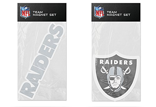 Rico Industries NFL Oakland Raiders 2-Pack Die Cut Team Logo Magnet Set
