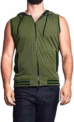 White,XL Solid Color Mens Short Sleeve Fashion Summer Pocket Hooded Casual Duseedik Slim Fit Asiebiul