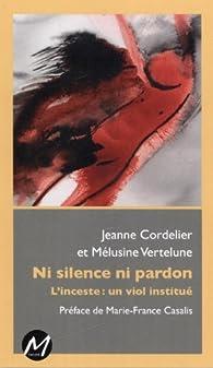 Ni silence ni pardon par Jeanne Cordelier