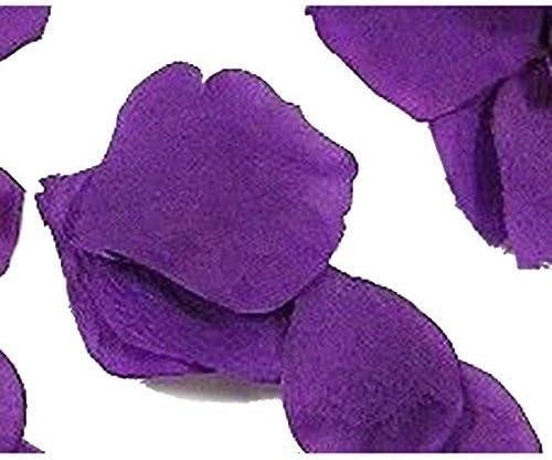 Rose Petals, 1000 Pcs Silk Petals Fake Rose Petals for Wedding, Romantic Night Party Decoration (Purple)