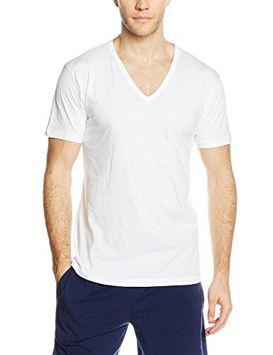 T 03828 Manica 53 A Cotone Art Mezza 100 Liabel Corpo Shirt V Scollo 3 Uomo fxq1fd