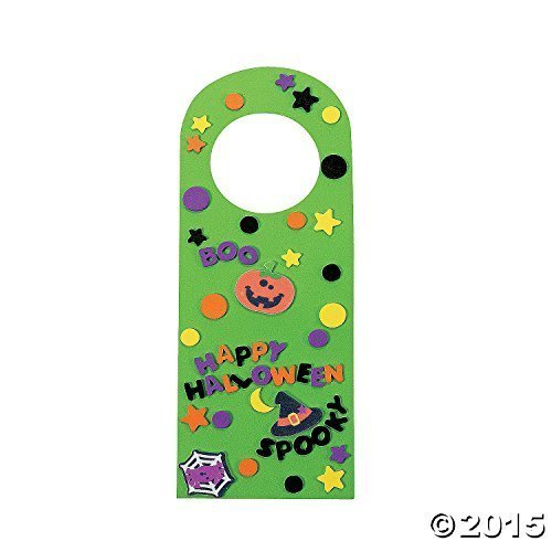 Halloween Friends Doorknob Hanger Craft Kit by Oriental Trading Company for $<!--$49.89-->